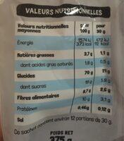 Chocolune - Informations nutritionnelles - fr