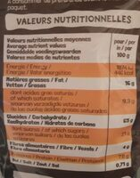 Ka'ré fourré chocolinette - Nutrition facts - fr