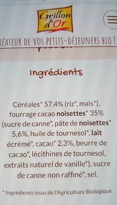 Ka're Fourre Chocolinette+ (7 KG) - Ingrédients - fr