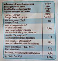 Ka'ré sans gluten - Nutrition facts - fr