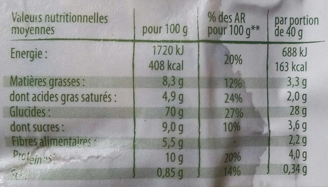 Pétales Epeautre complet et riz au chocolat - Nutrition facts