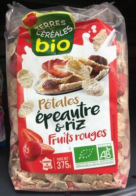 Pétales épeautre riz fruits rouges - Produit - fr