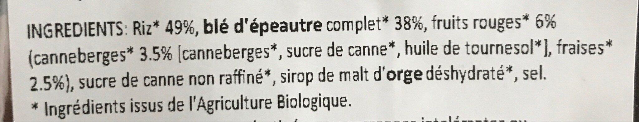 Pétales épeautre riz fruits rouges - Ingrédients - fr