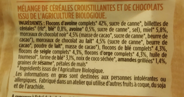 Muesli croustillant duo pépite - Ingredienti - fr