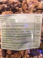 Muesli croustillant duo pépite - Valori nutrizionali - fr