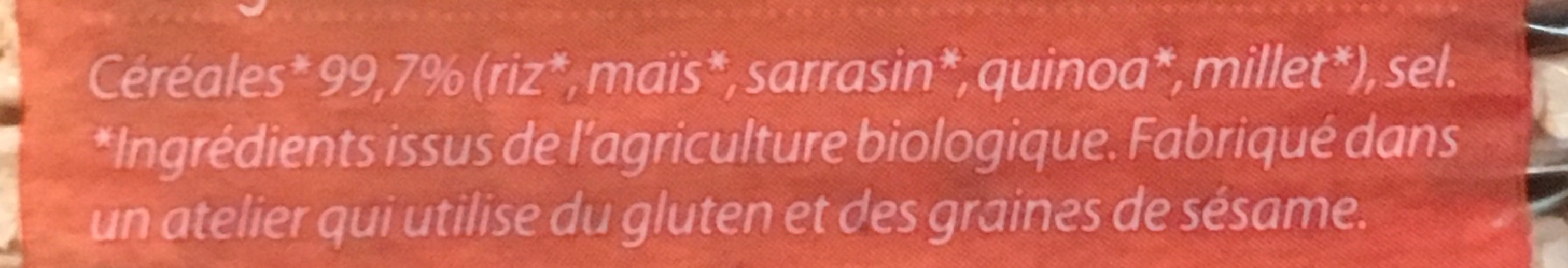 Galettes aux 4 Céréales - Ingrédients