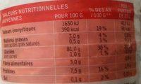 Galette de riz - Informations nutritionnelles