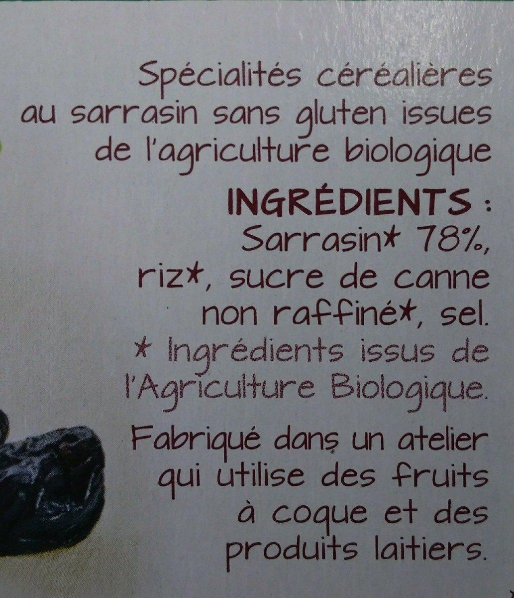 Tartines Craquantes Sarrasin - Ingrédients - fr