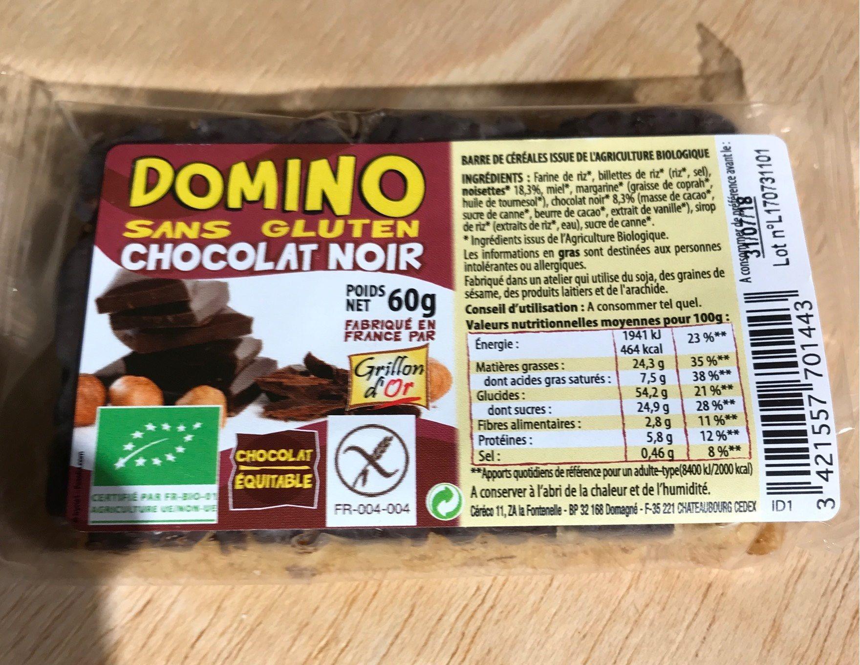 Barre Sans Gluten Chocolat Noir - Produit