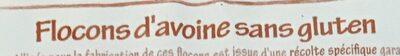 Flocons d'avoine sans gluten - Ingrédients - fr