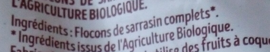 Flocons de sarrasin sans gluten - Ingredients - fr