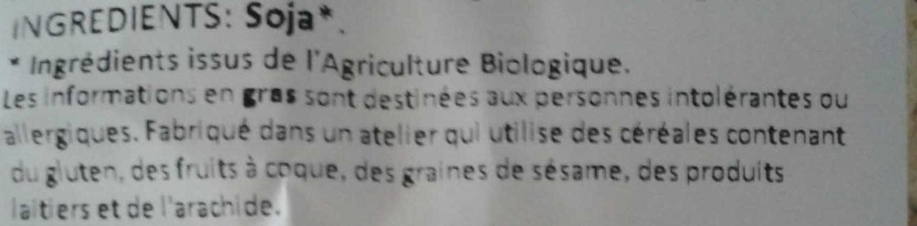 Protéines de soja gros - Ingredients - fr