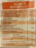 Protéines de soja gros - Nutrition facts - fr