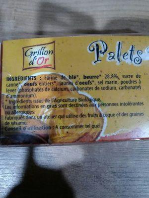 Palets Pur Beurre 115G Grillon Ab Bio - Produit - fr