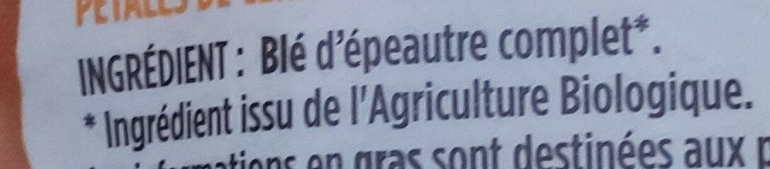Flakes d'épeautre - Ingredientes - fr
