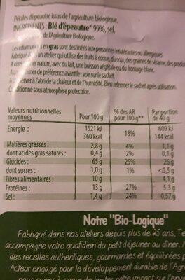 Flakes d'épeautre - Información nutricional - fr