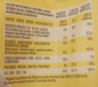 Flocons d'avoine Complets - Nutrition facts