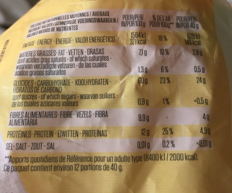 Flocons d'avoine complets - Valori nutrizionali - fr