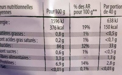 Con flakes nature - Informations nutritionnelles - fr