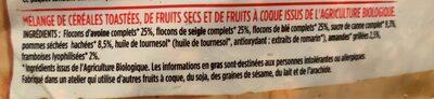 Granola pommes framboises amandes - Ingredients