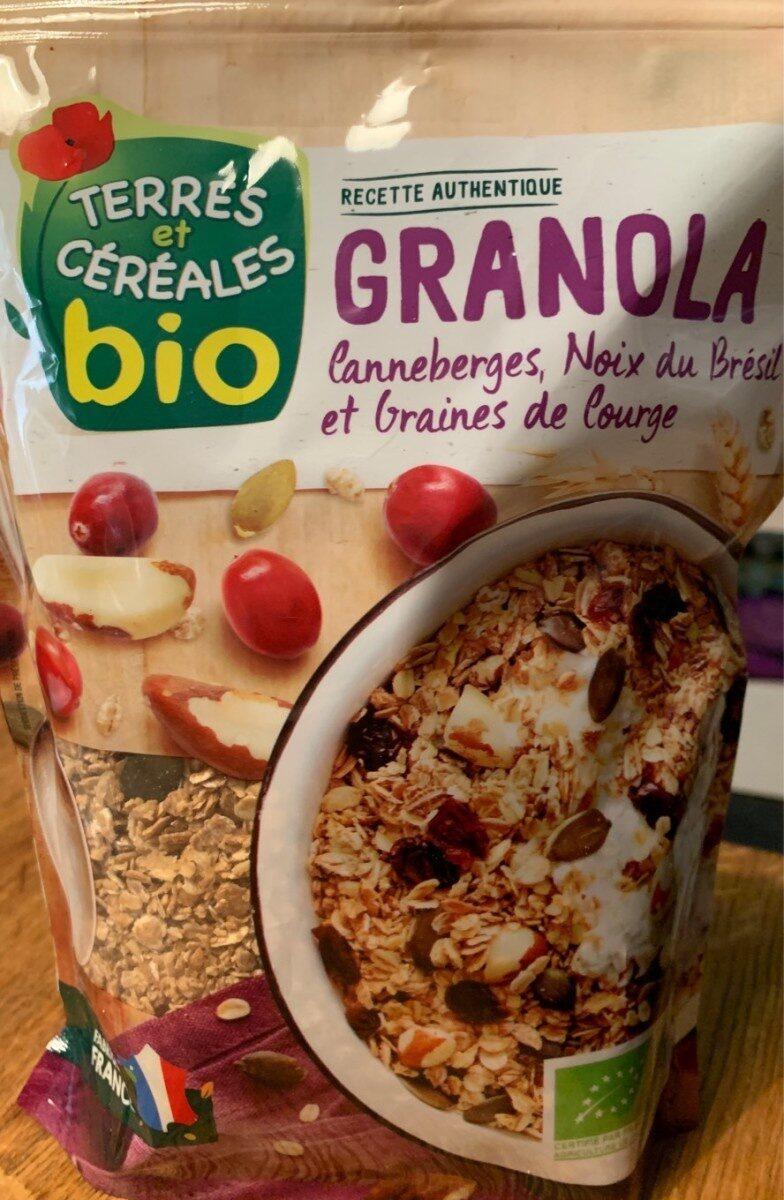Granola canneberges noix bresil graine de courges - Product