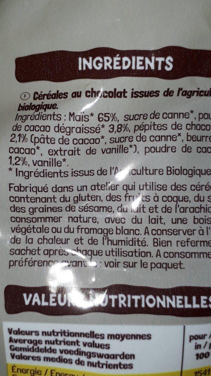 Mops chocolat - Ingrédients - fr