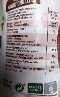 Mes krounchy - Voedingswaarden - fr