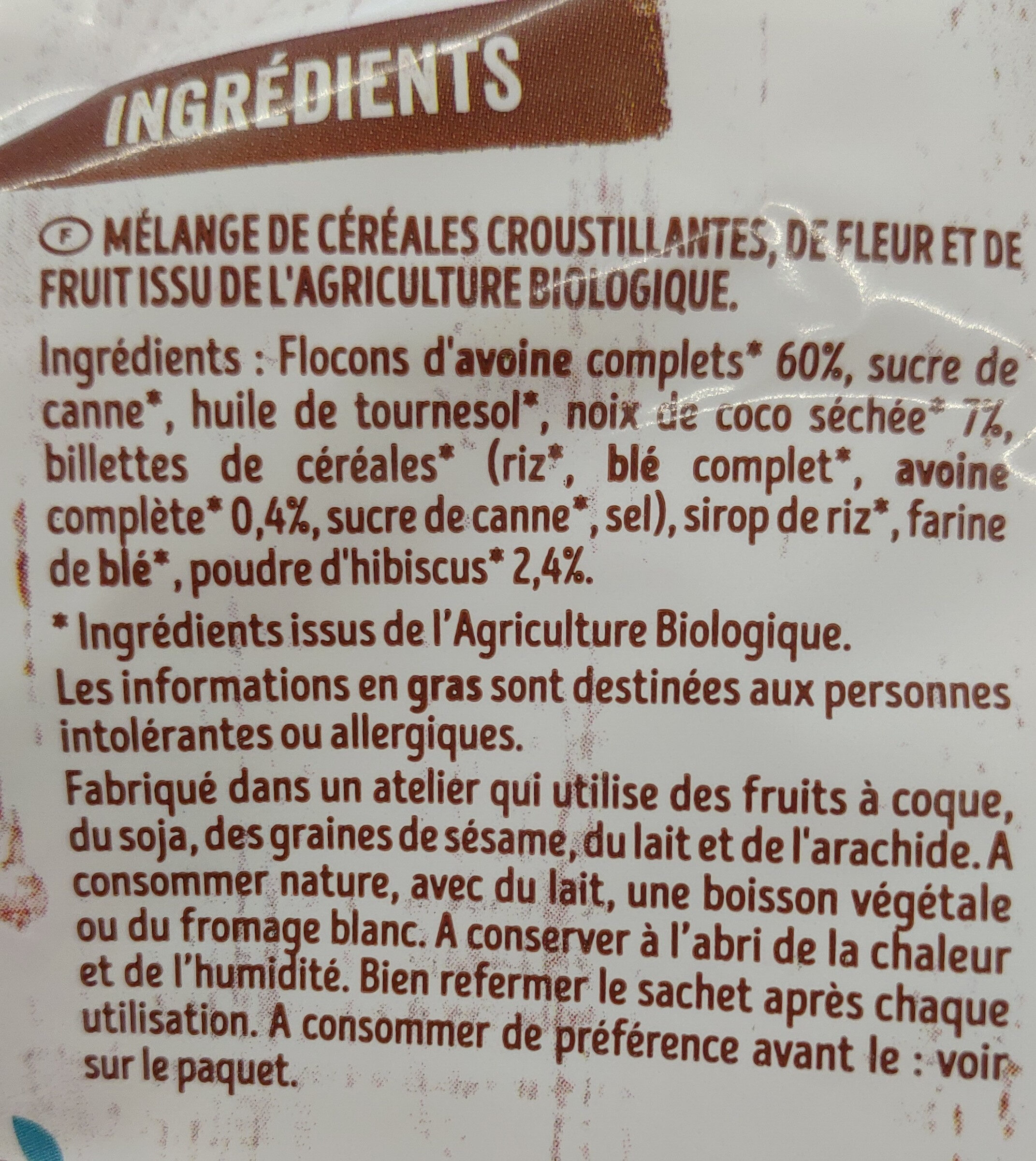 Mes Krounchy - Ingredients - fr