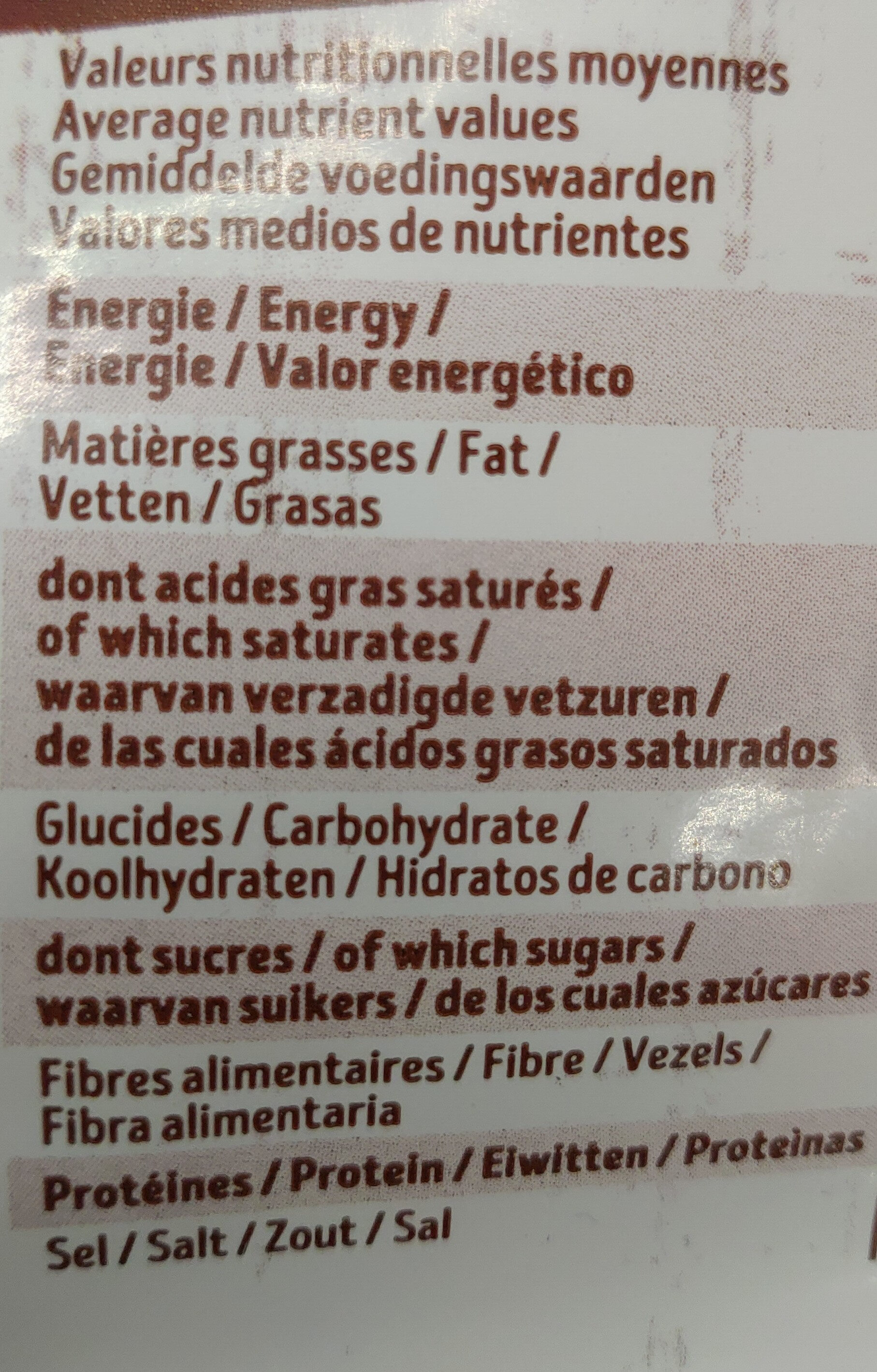 Mes Krounchy - Nutrition facts - fr
