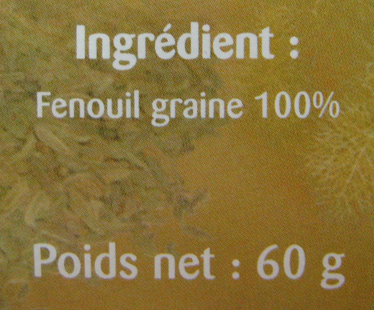 FENOUIL - Ingredienti - fr