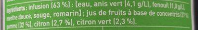 Ze fresh touch anis vert et fenouil - Ingredienti - fr