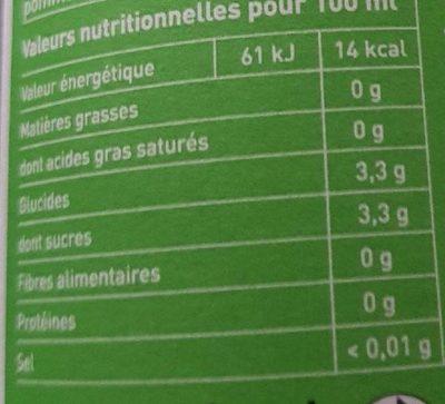 Ze fresh touch anis vert et fenouil - Valori nutrizionali - fr
