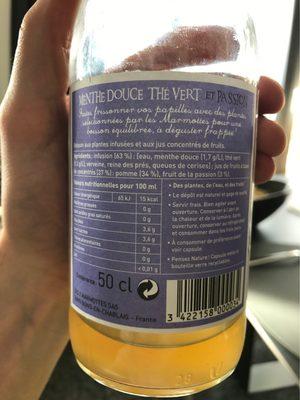 Ze Fresh touch - Valori nutrizionali - fr