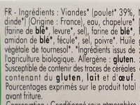 Nuggets au poulet bio - Ingredienti - fr