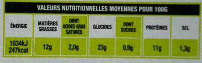 Nuggets au poulet croustillants bio - Nutrition facts