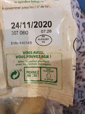 Grignottes de poulet rôti nature - Recycling instructions and/or packaging information - fr