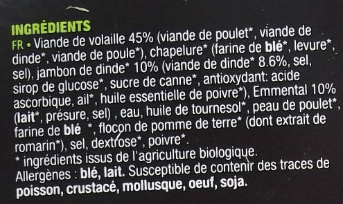 Cordon bleu - Ingredients - fr