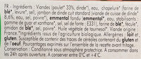 2 cordons bleus de volaille BIO - Inhaltsstoffe - fr