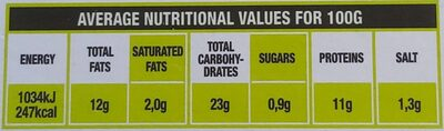 Bio Chicken Nuggets - Informations nutritionnelles - de