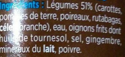 Le velouté 5 légumes - Ingrédients - fr
