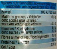 Le velouté 5 légumes - Informations nutritionnelles - fr