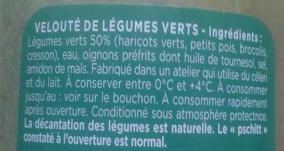 Le Velouté Légumes verts - Ingrédients - fr