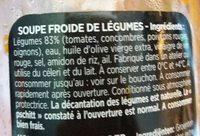 Gazpacho l'original - Ingrédients - fr
