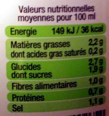 Gazpacho l'original - Informations nutritionnelles - fr
