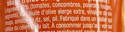 Le Gazpacho original - Ingrédients