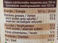 Mes potages Bio 6 Légumes - Informations nutritionnelles - fr
