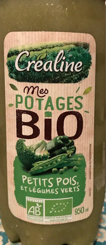 Mes potages Bio Petits pois et légumes verts - Produit - fr