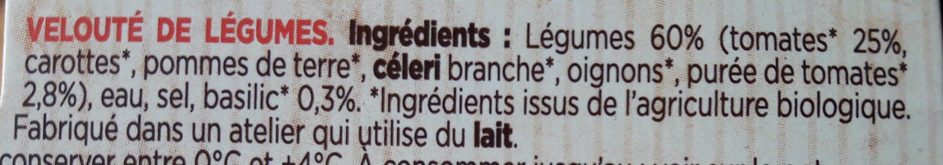Velouté de tomates et basilic - Ingrédients - fr