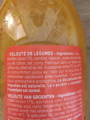 Velouté lentilles corail - Ingrediënten - fr