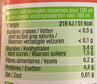 Velouté lentilles corail - Voedingswaarden - fr
